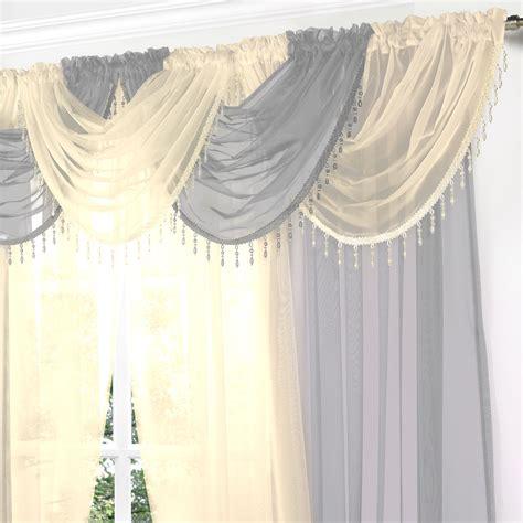 beaded valance curtains crystal beaded voile swag net valance pelmet for