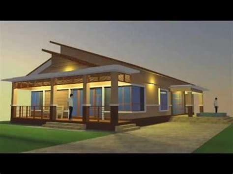 reka bentuk rumah banglo 1 12 tingkat pelan rumah d1 03 pelan rumah cadangan rekabentuk pelan banglo 1 tingkat 3 bilik 3