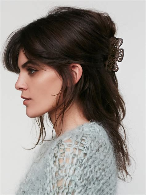 hairstyles with hair claws cascades cutout claw at free people clothing boutique