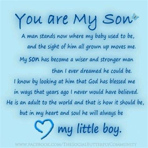 Happy Birthday To My Baby Boy Quotes 17 Best Quotes About Sons On Pinterest Quotes About