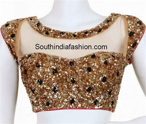 boat neck readymade blouses online readymade boat neck gold sequins blouse south india fashion