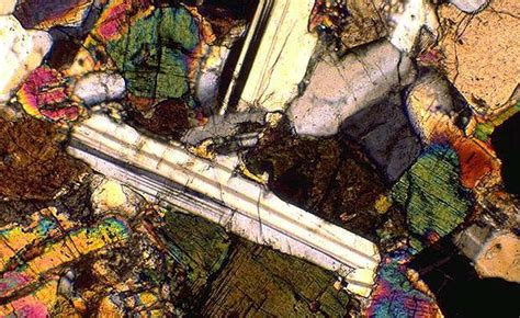 opal thin section anorthite thin section xpl x10 gemstones minerals more
