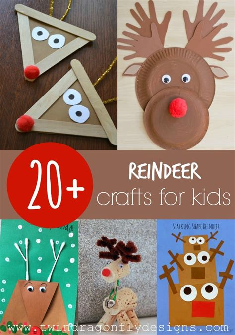 reindeer craft projects 20 reindeer crafts for 187 dragonfly designs