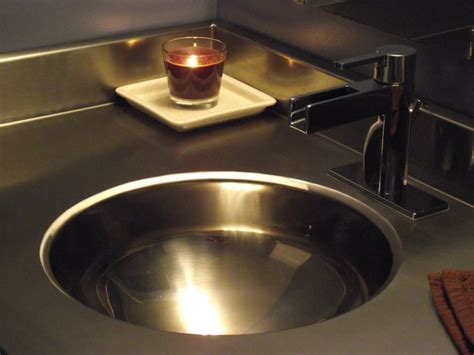 Stainless Steel Countertop With Sink by Stainless Steel Vanity Countertop By Ridalco