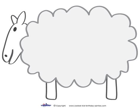 sheep template lost sheep craft coloring pages