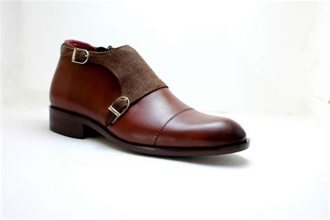 Handcrafted Leather Boots - handmade leather boots monk suede boot brown