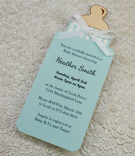 Baby Bottle Invitation Template baby bottle boy shower invitation template print