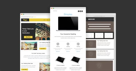 Responsive Eblast Template Go Responsive With 7 Free Email Templates From Stlia Litmus Software Inc