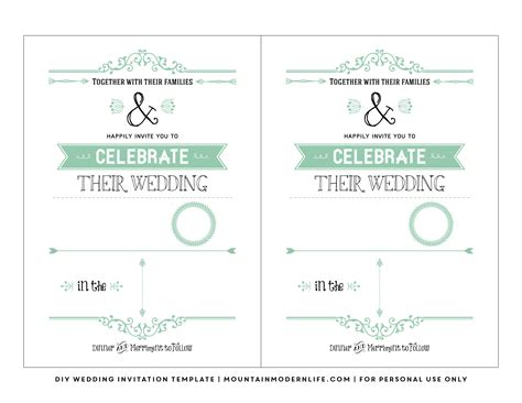 free wedding invite templates free wedding invite templates with