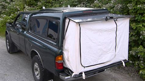 diy truck bed tent canvas pickup cer autos post