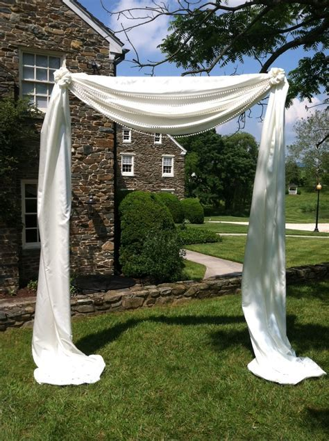 Fabric Pipe and Drape Arch   Blossom & Basket Boutique