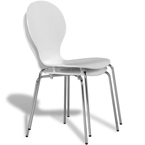 vidaxl co uk 2 stackable butterfly dining chairs white