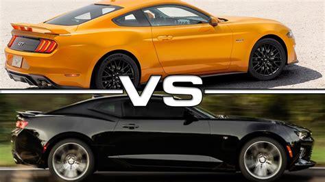 mustang gt vs camaro ss 2018 ford mustang gt vs 2016 chavrolet camaro ss