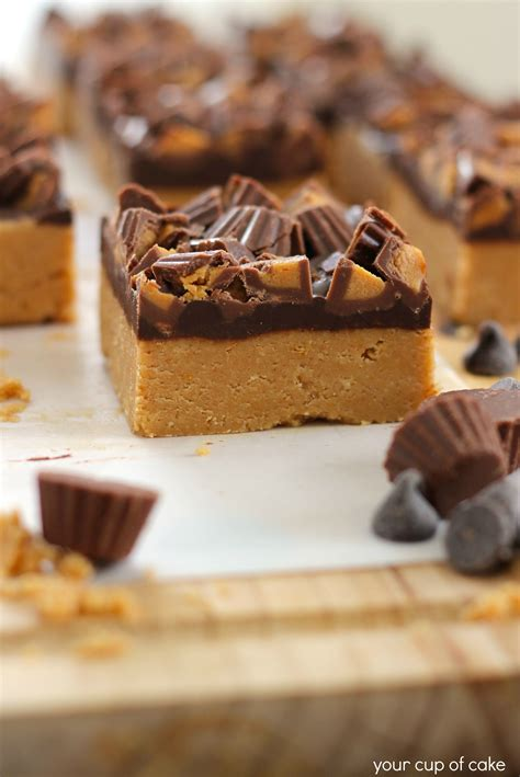 peanut butter bars with chocolate on top no bake peanut butter chocolate bars your cup of cake