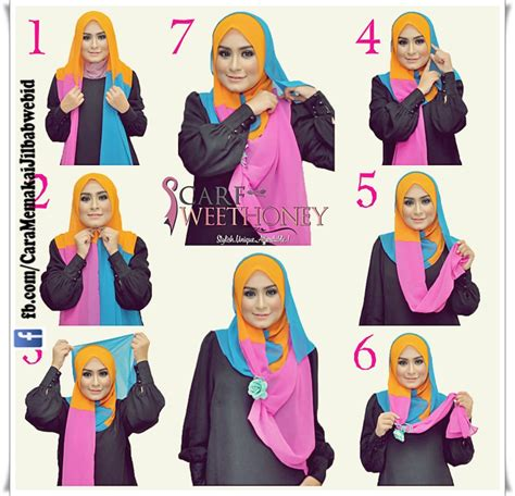 tutorial hijab segi empat april jasmine til modis simple dan modern dengan jilbab ala april
