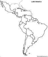 south america blank political map outline map of america country border marked
