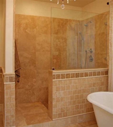 Bathroom Shower Door Ideas Walk In Shower Designs Without Doors Ideas Home Interior Exterior