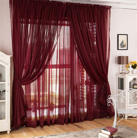 maroon curtains living room
