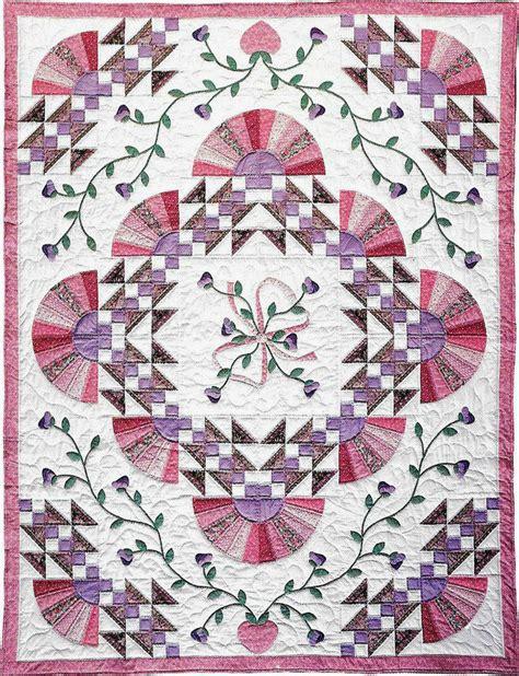Patchwork Flowers - jacob s fan flowers applique patchwork block vintage