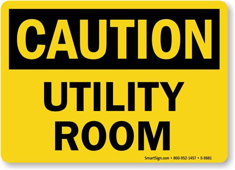 utility room signs