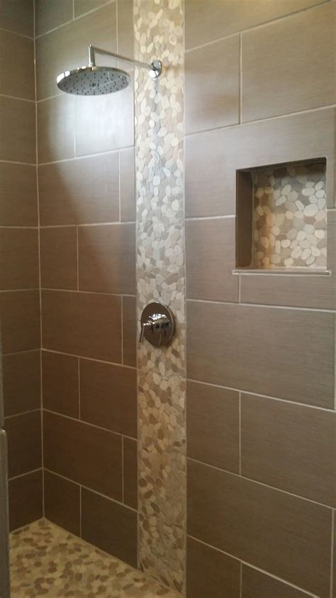 pebble tiles bathroom sliced java tan and white pebble tile white pebbles