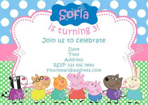 peppa pig invitation card template peppa pig birthday invitations new invitations