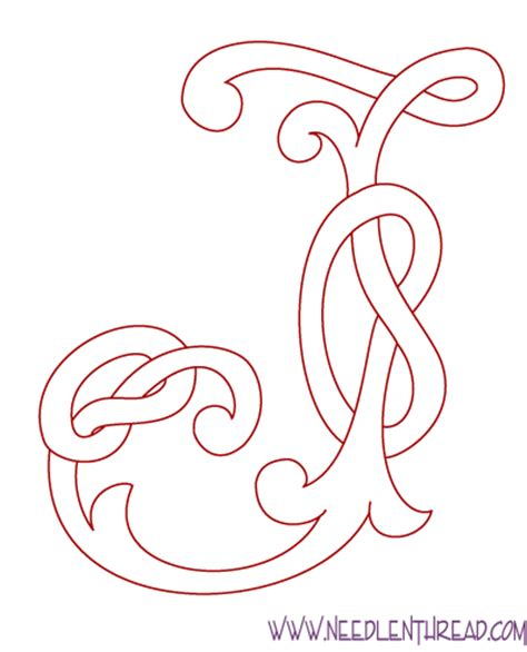 monogram for hand embroidery celtic j needlenthread com