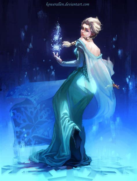 free elsa painting frozen elsa by kowerallen on deviantart