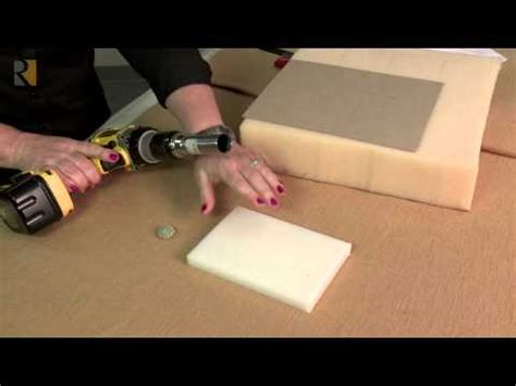how to cut upholstery foam foam hole cutter for upholstery youtube