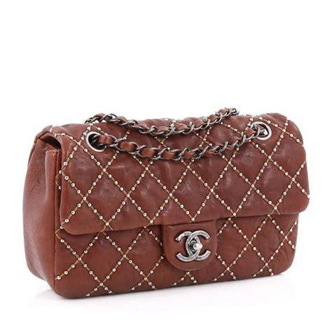 Tas Chanel Branded Bag Fashion Style Stud Studded Satchels Gaul Elegan chanel dallas flap bag quilted studded distressed calfskin medium at 1stdibs
