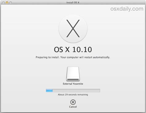 os x install yosemite how to install os x yosemite on any external drive thumb