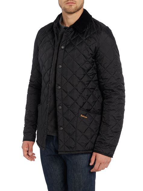 Mens Barbour Heritage Liddesdale Quilted Jacket by Barbour Heritage Liddesdale Quilted Jacket In Black For