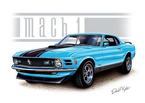 mustang 1970 mach 1 1970 mustang mach 1 blue by david kyte