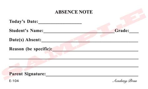 absent notes for school templates 8 best images of printable for school absence excuses