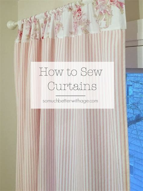 Fabric For Nursery Curtains How To Sew Pink Ticking Curtains At The Top Nursery Curtains And Color Patterns