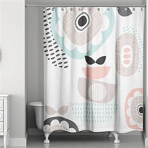 74 inch shower curtain designs direct spring mid mod 74 inch shower curtain in