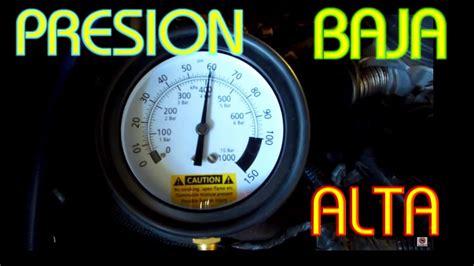 causas  ocacionan presion baja  alta en el sistema de