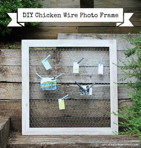 wire photo display diy chicken wire photo frame upcycled treasures