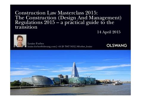 design management regulations 2015 a practical guide to the construction design and