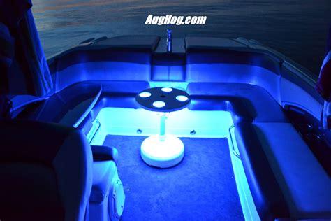 pontoon boat lights accessories blue led light kit on one our our boat tables this one