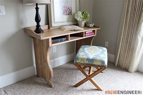 Diy Sicily Writing Desk Free Plans Pottery Barn Inspired Diy Desk