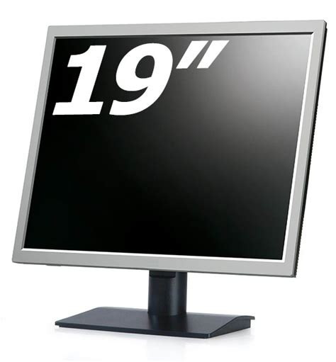 Lcd Monitor 19 Inch buy the 19 inch black silver flat panel lcd tft monitor at microdream co uk