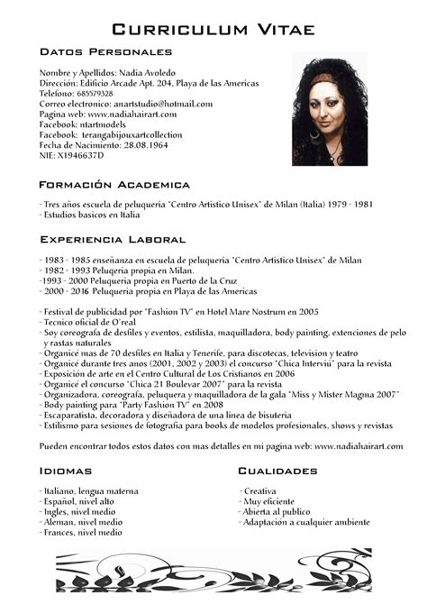 Modelo Curriculum Vitae Peluqueria Como Hacer Un Curriculum Vitae Como Hacer Un Curriculum En Espa 241 A