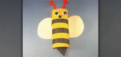 How To Make A Paper Bee - how to make an easy toilet paper roll bumble bee 171