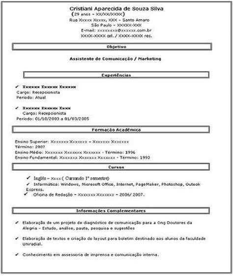 Modelo Curriculum Vitae Facil Como Fazer Um Curriculo Facil Como Fazer Um Curriculo