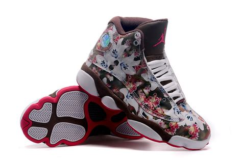nike air 13 floral brown coffee with flower