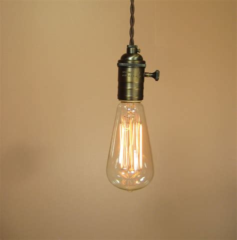 Pendant Light Edison Bulb Farmhouse Style Rustic Bare Bulb Pendant Light By