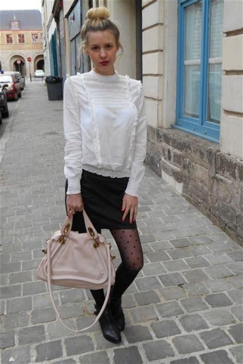 Stradivarius Blouse Pink white zara blouses light pink bags black