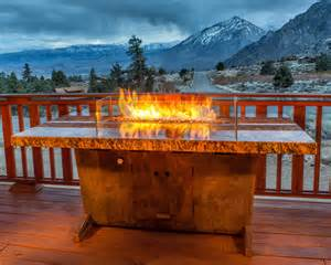 Grand view fire pit table eclectic patio los angeles