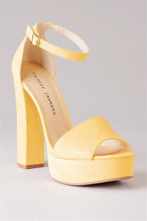 shoe avenue laundry shoes avenue platform in yellow
